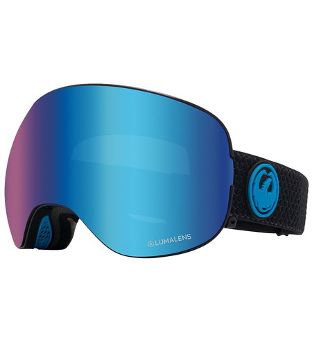 Dragon Alliance X2S 2 Snow Goggles Split Blue Ionized