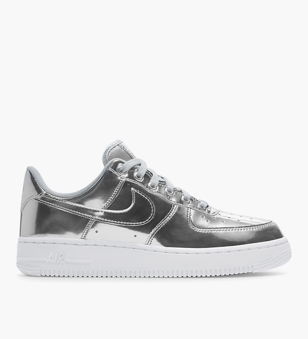 Nike Air Force 1 W SP Chrome Metallic Silver White