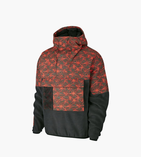 Nike Nike M NRG ACG AOP Light Weight Fleece Jacket Black Rush Red