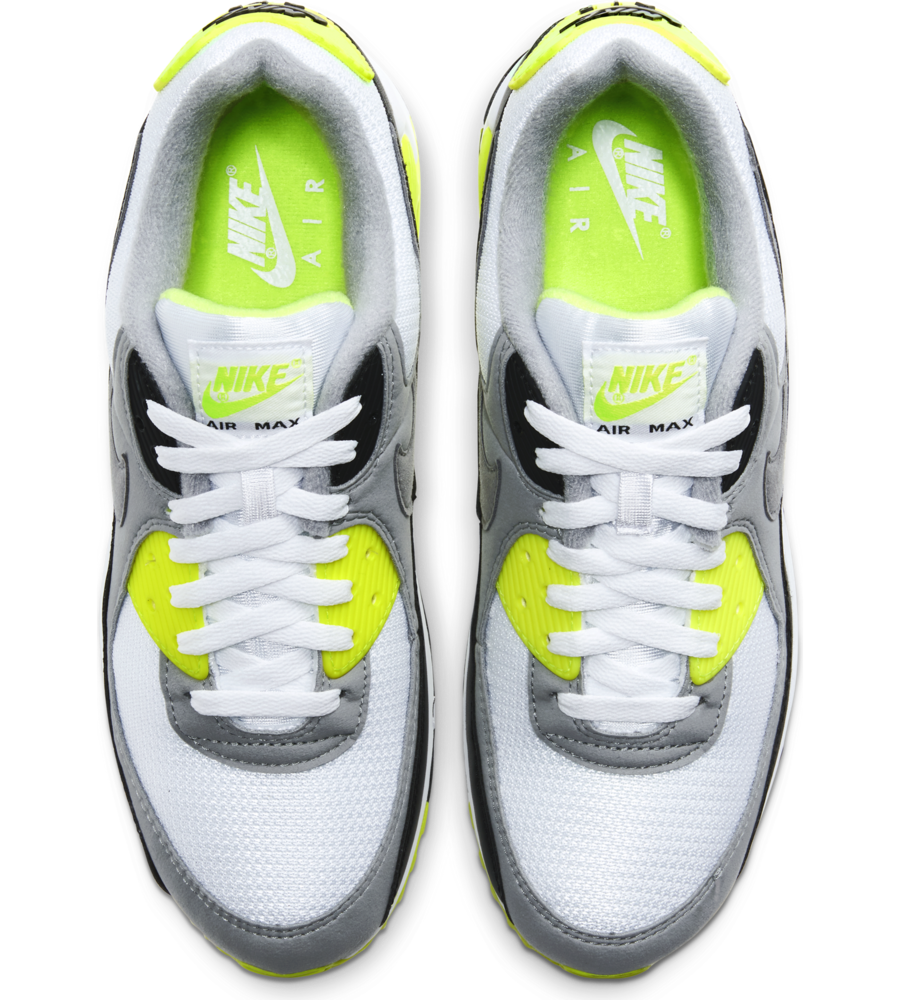 Nike Nike Air Max 90 White Particle Grey Volt Black