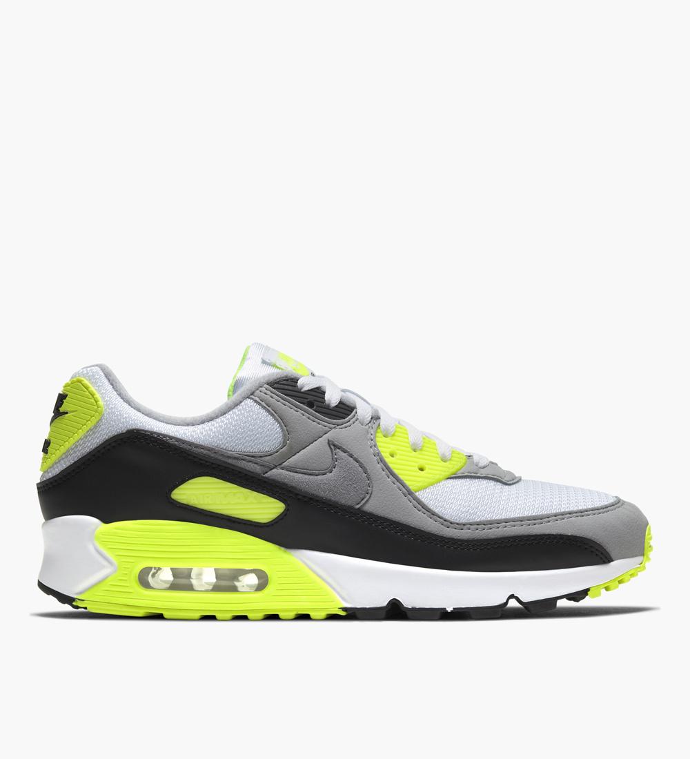 Nike Air Max 90 White Particle Grey Volt Black