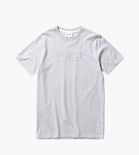 Norse Projects Norse Projects Niels Serif Logo Light Grey Melange