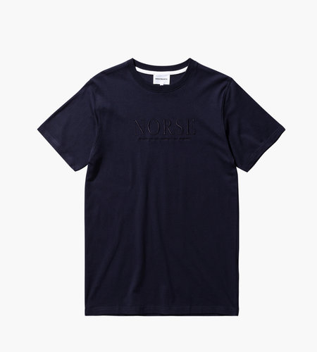 Norse Projects Norse Projects Niels Serif Logo Dark Navy
