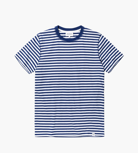 Norse Projects Norse Projects Niels Classic Stripe SS Dark Navy White