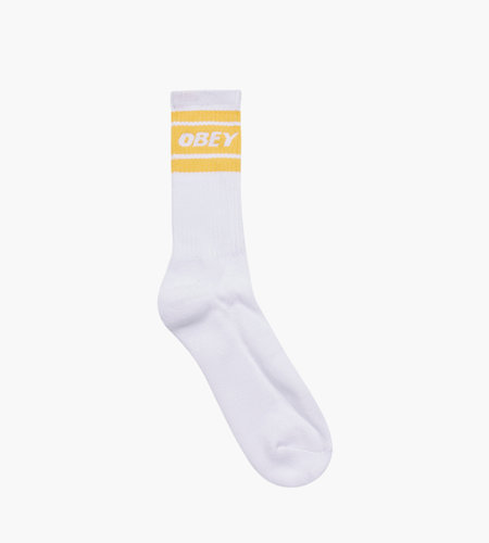 Obey Obey Cooper II Socks White Mellow Yellow