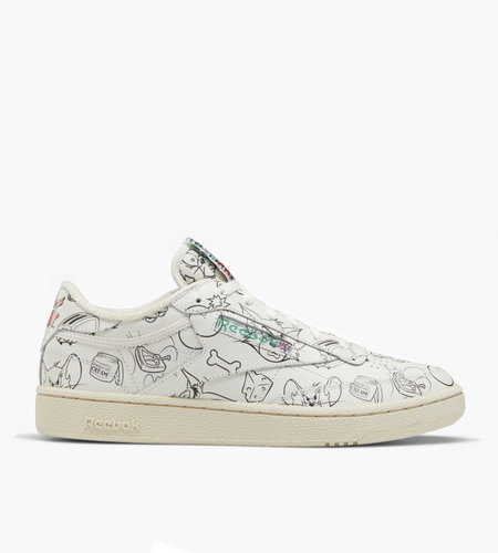 Reebok Reebok x Tom & Jerry Club C Revenge MU Chalk Paper White Excellent Red