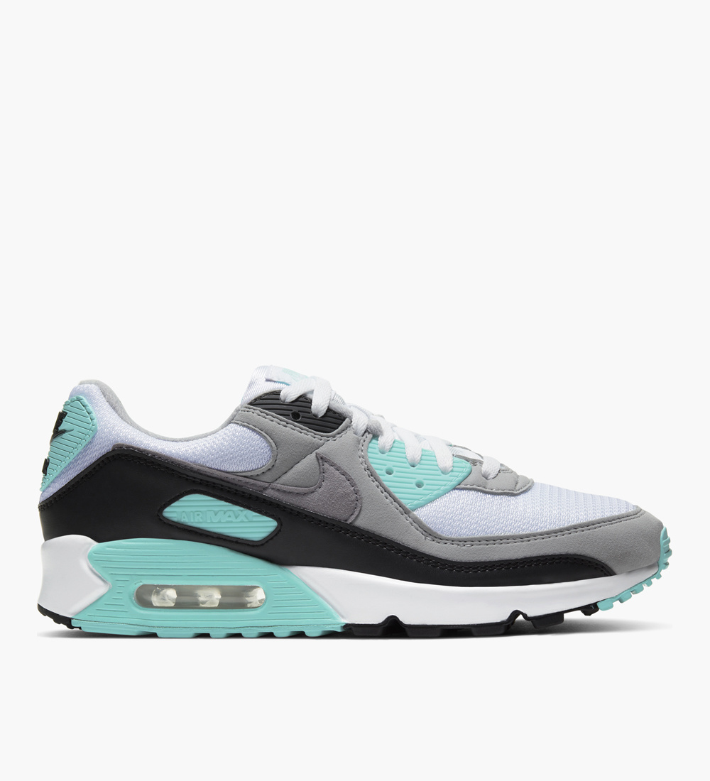 Nike Air Max 90 White Particle Grey Hyper Turquoise