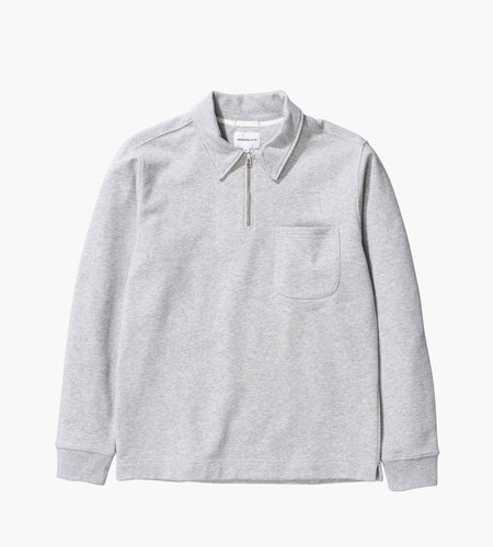 Norse Projects Norse Projects Jorn Half Zip Light Grey Melange