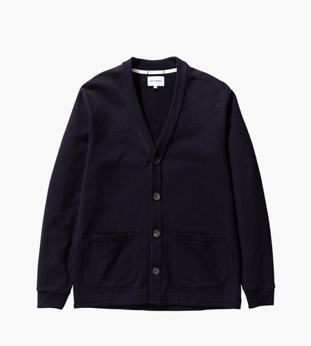 Norse Projects Norse Projects Vidar Sweat Cardigan Dark Navy