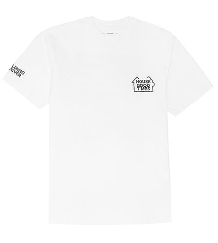 "Reception Reception SS Tee ""Flag"" White"