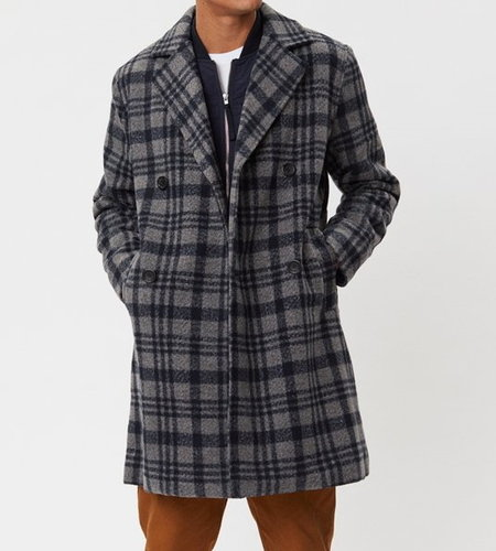 Legends Frankie Check Coat Grey Check