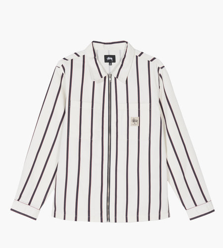 Stussy Stussy Zip Up Work Shirt Stripe