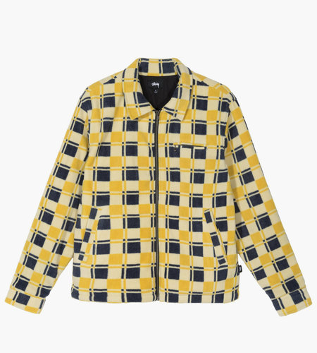Stussy Stussy Brent Polar Fleece Jacket Yellow