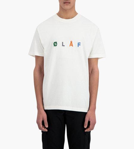 Olaf Hussein Olaf Hussein ØLÅF Chainstitch T White