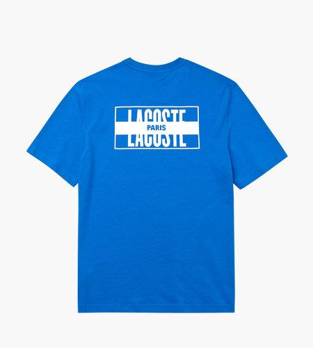 Lacoste Live Lacoste 1HT1 Men's Tee-shirt 01 Nattier Blue White