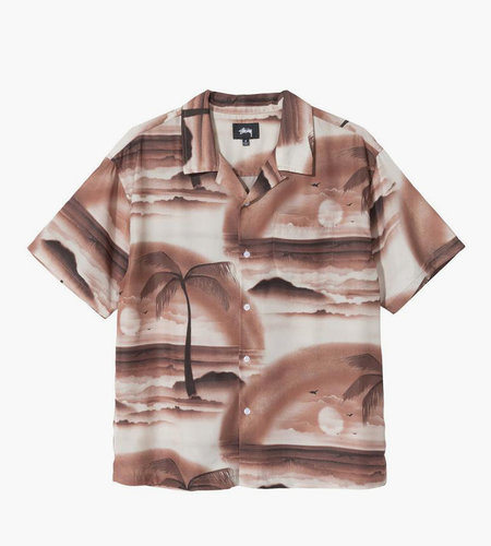 Stussy Stussy Island Shirt Brown