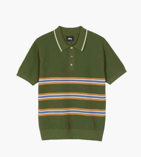 Stussy Stussy Montego Stripe S/SL Polo Green