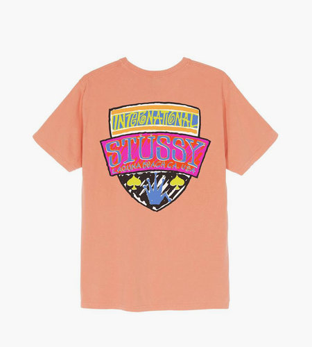 Stussy Stussy Association Pig. Dyed Tee Neon Orange