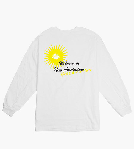 New Amsterdam New Amsterdam Welcome Longsleeve White