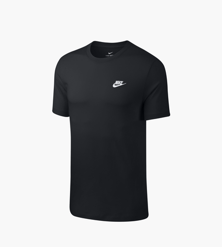Nike Nike Sportswear Club T Shirt Black White