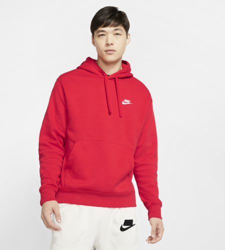 Nike Nike Sportswear Club Hoodie University Red University Red White