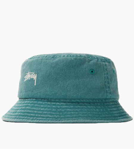 Stussy Stussy Stock Washed Bucket Hat Green