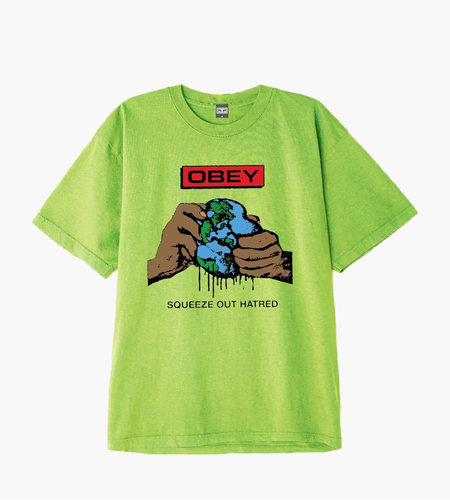 Obey Obey Squeeze Out Hatred Bright Lime