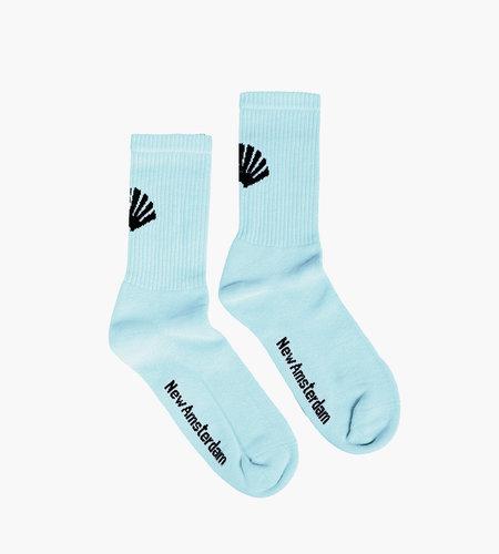 New Amsterdam New Amsterdam Logo Socks Light Blue