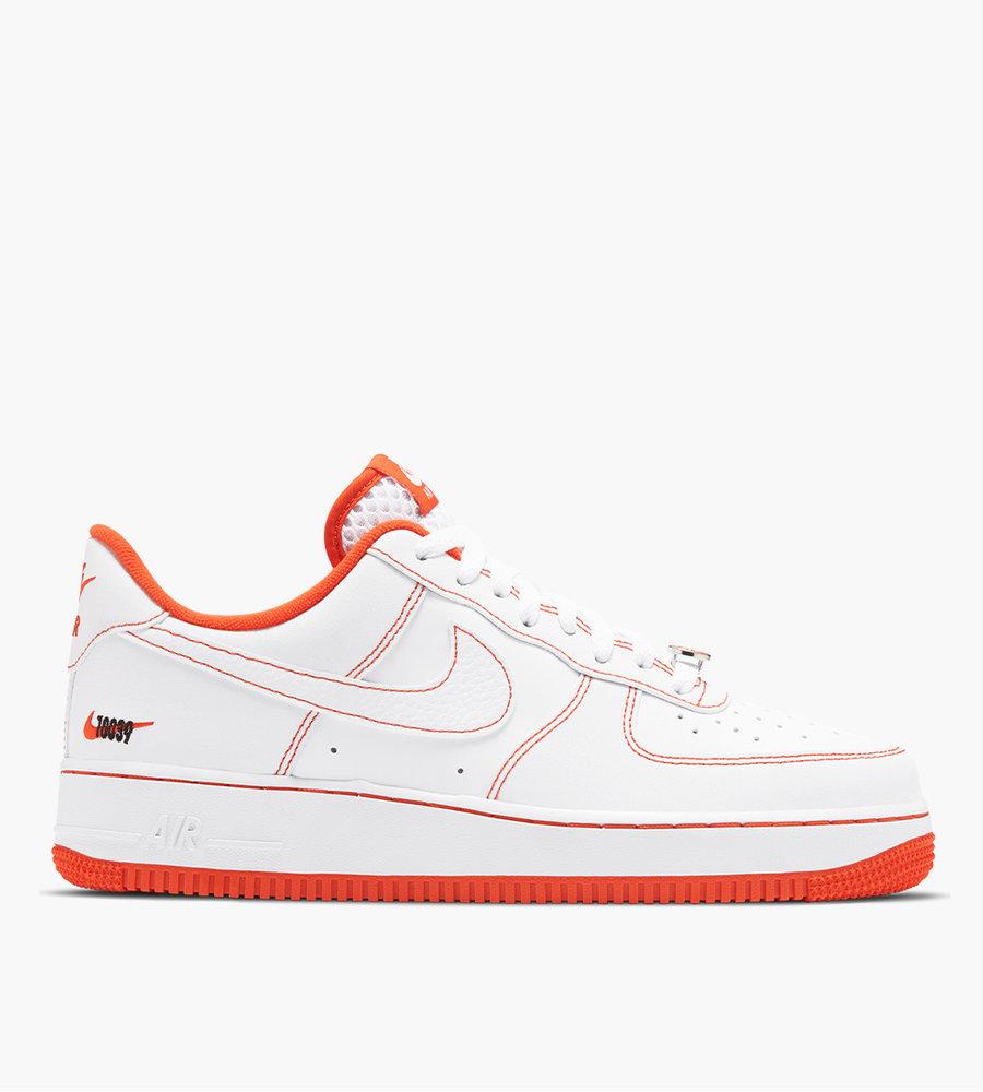 nike air force 1 orange and white