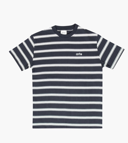 Arte Antwerp Arte Tino Stripes Tee Navy White
