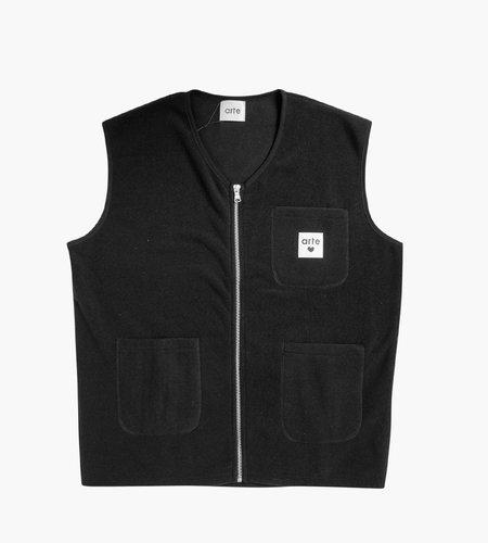 Arte Antwerp Arte Victor Zipper Vest Black