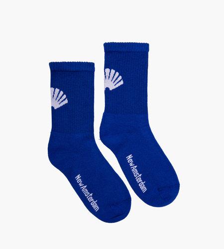 New Amsterdam New Amsterdam Logo Socks Royal Blue