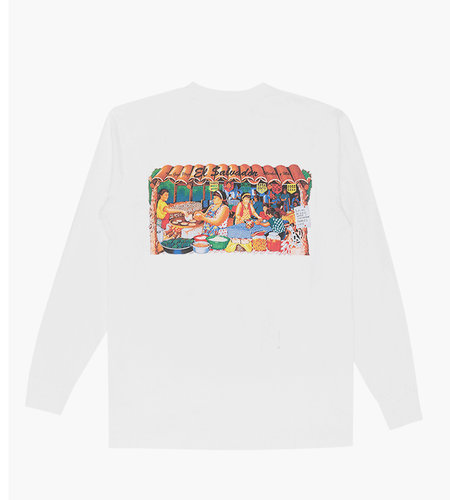 Reception Reception LS Tee Two Guys White