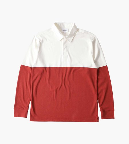 Norse Projects Norse Projects Ruben Polo Colour Block Carmine Red