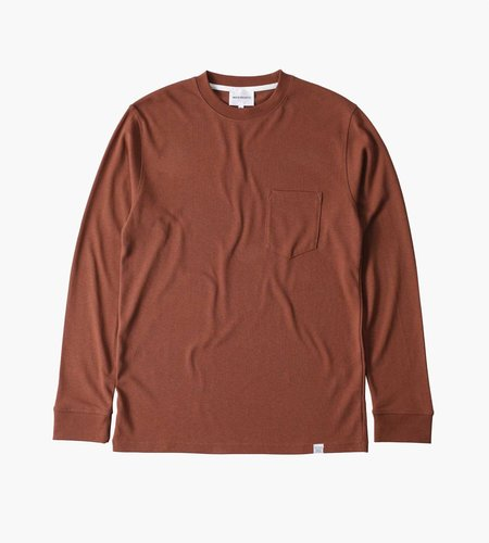 Norse Projects Norse Projects Johannes Pocket LS Madder Brown