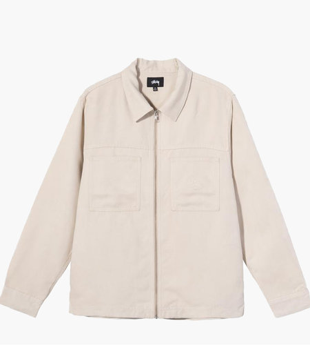 Stussy Stussy Micro Suede Work Shirt Natural