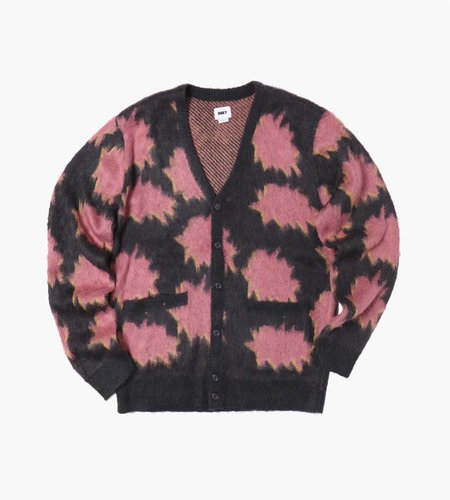 Obey Obey Crackle Cardigan Navy Multi