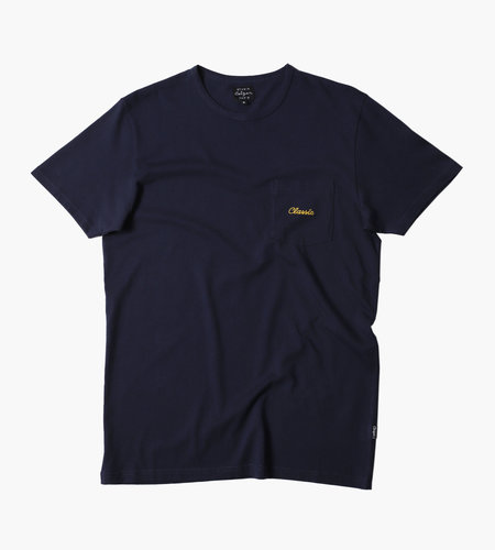 Ceizer Embroidery Pocket Shirt Navy