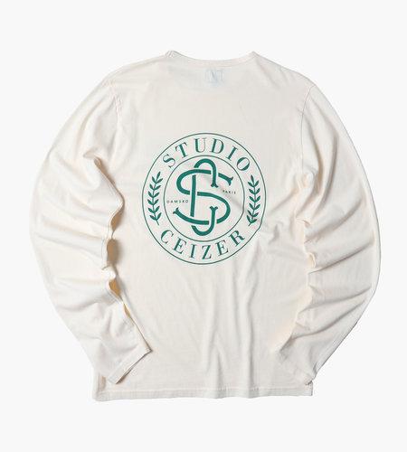 Ceizer Ceizer Monogram Longsleeve Shirt Light Creme