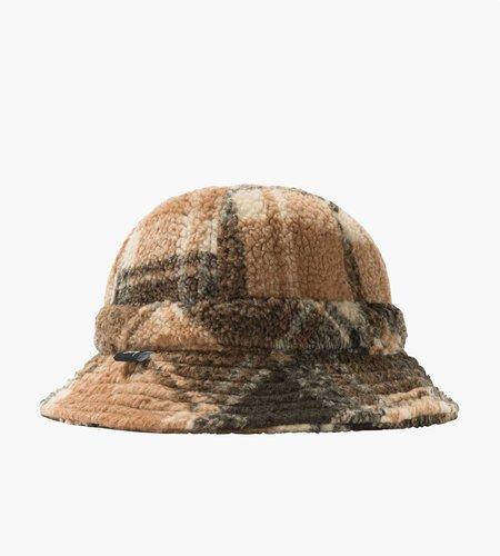 Stussy Stussy Sherpa Fleece Bell Bucket Hat brown plaid