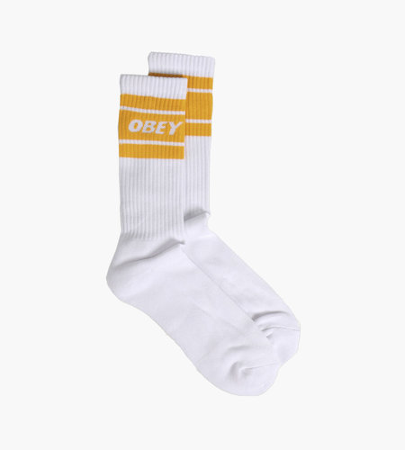 Obey Obey Cooper II Socks White Old Gold