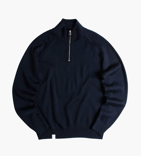 Baskèts Baskèts Essential Half-Zip Knit Navy
