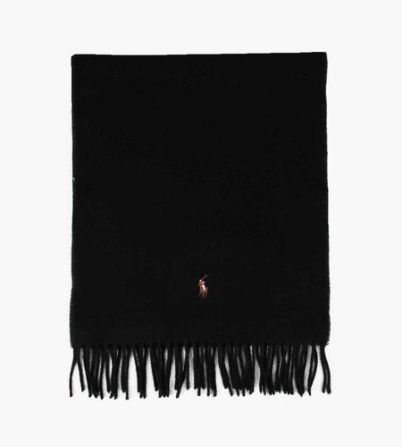 Polo Ralph Lauren Polo Ralph Lauren Sign Wool Italian Scarf Black