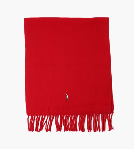 Polo Ralph Lauren Polo Ralph Lauren Sign Wool Italian Scarf Red