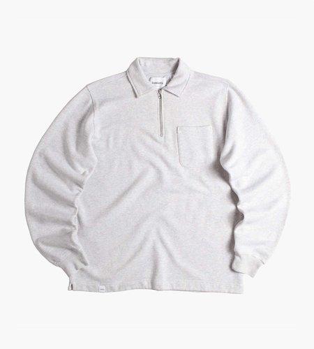 Baskèts Baskèts Essential Polo Half-Zip Ash Grey