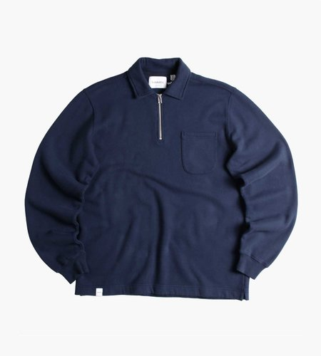Baskèts Baskèts Essential Polo Half-Zip Navy