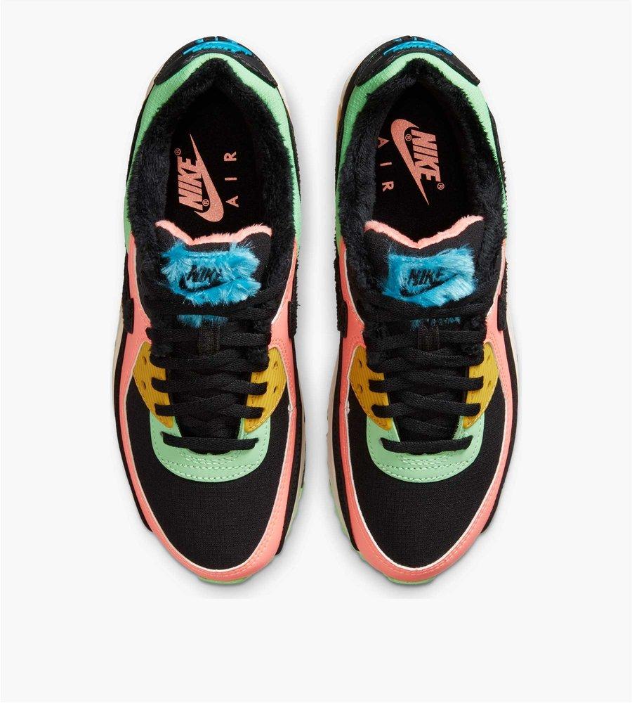 Nike W Air Max 90 PRM Atomic Pink Black Laser Blue Solar Flare ...