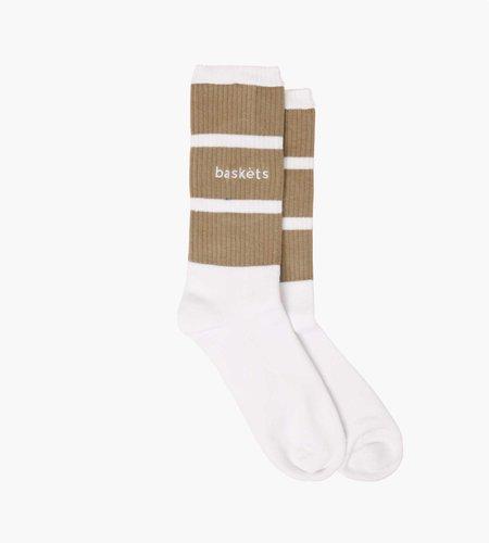 Baskèts Baskèts Classic Stripe Socks White Stone OS
