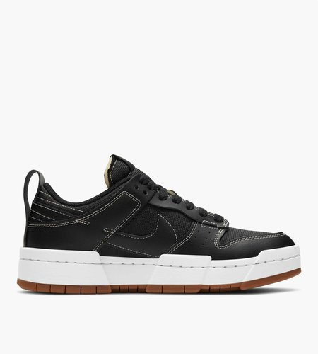 Nike Nike W Dunk Low Disrupt Black Black Fossil Gum Med Brown