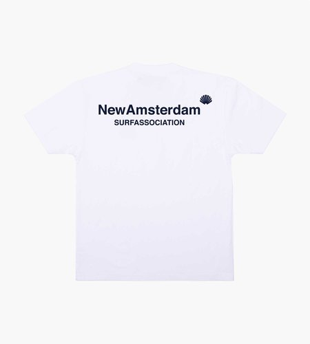 New Amsterdam Surf Association New Amsterdam Logo Tee White QS AW20